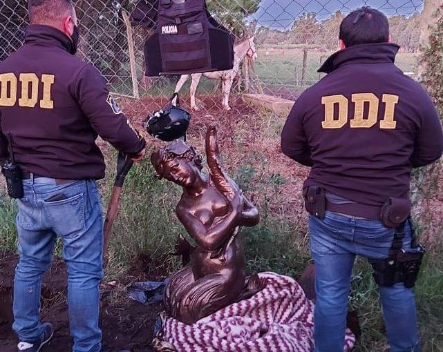 Mar del Plata: Hallan la escultura robada