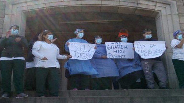 Enfermeros: olla popular en el Hospital Regional de Mar del Plata